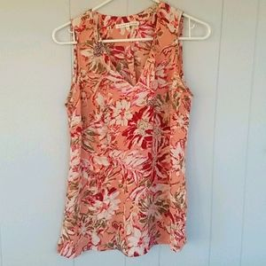 Violet + Claire Pink Floral Sleeveless Top